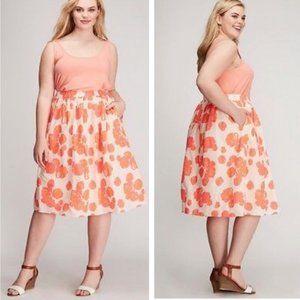 NWT Lane Bryant Neon Floral Skirt Sz 26/28